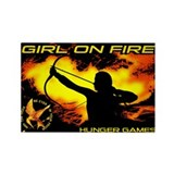 Girl on Fire 2 Rectangle Magnet