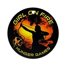Girl on Fire 2 Ornament (Round)