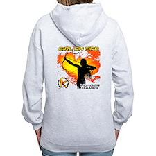 Girl on Fire 2 Zip Hoodie