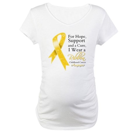 Childhood Cancer Ribbon Maternity T-Shirt