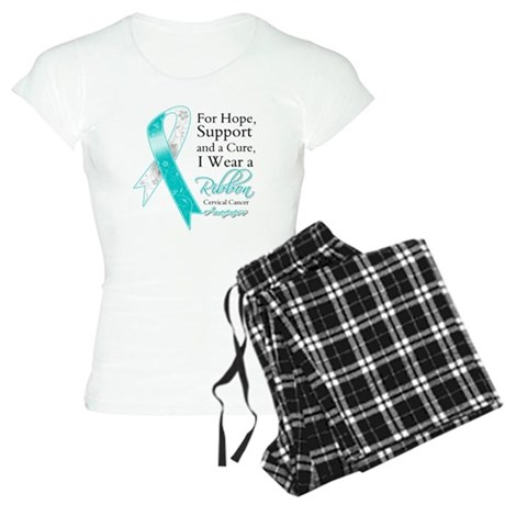 Cervical Cancer Ribbon Women's Light Pajamas