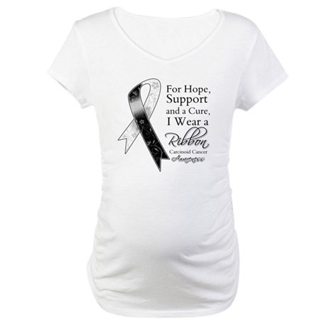 Carcinoid Cancer Ribbon Maternity T-Shirt