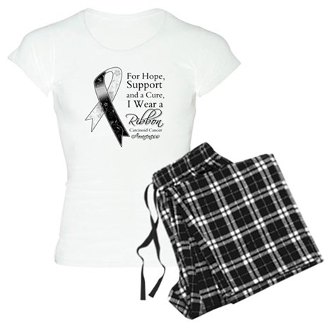 Carcinoid Cancer Ribbon Women's Light Pajamas