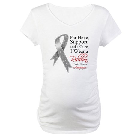 Brain Cancer Ribbon Maternity T-Shirt