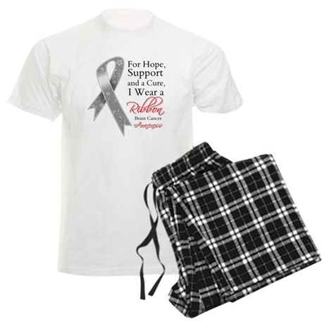 Brain Cancer Ribbon Men's Light Pajamas