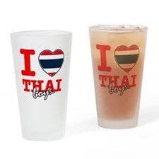 I love Thai boys Drinking Glass