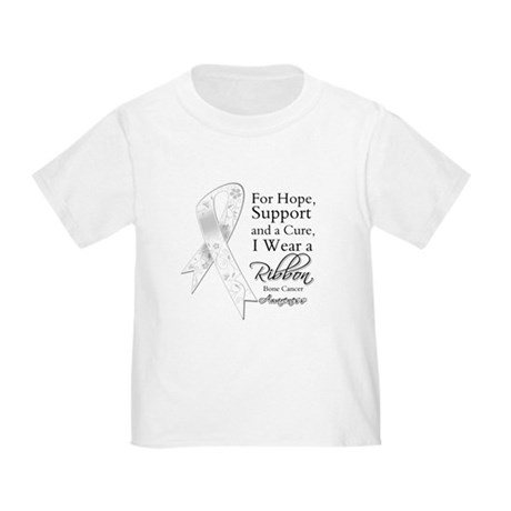Bone Cancer Ribbon Toddler T-Shirt