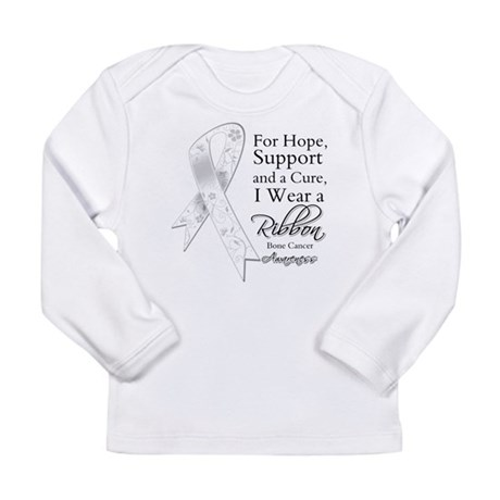Bone Cancer Ribbon Long Sleeve Infant T-Shirt