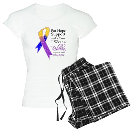 Bladder Cancer Ribbon Women's Light Pajamas