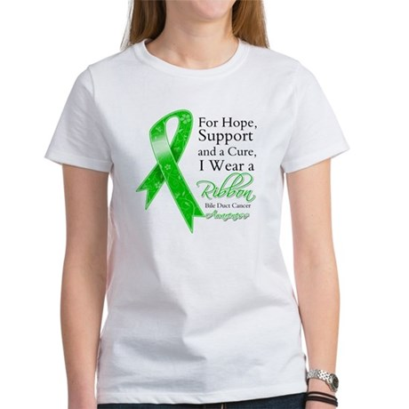 Bile Duct Cancer Ribbon Women's T-Shirt