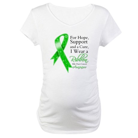 Bile Duct Cancer Ribbon Maternity T-Shirt