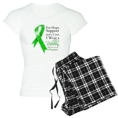 Bile Duct Cancer Ribbon Women's Light Pajamas