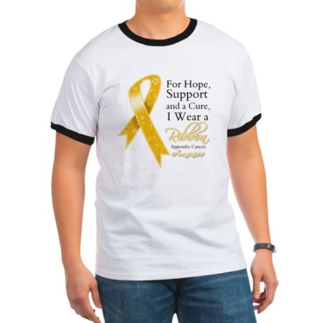 Appendix Cancer Ribbon Ringer T