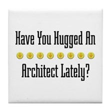 Hugged Architect Tile Coaster