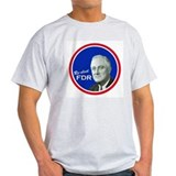 FDR CAMPAIGN BUTTON Ash Grey T-Shirt