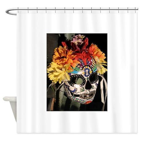 Dia De Los Muertos Shower Curtain By Lilbittyfish