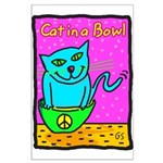 Cat in a Bowl Poster