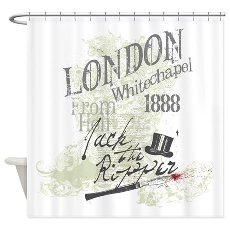 Jack the ripper london 1888 shower curtain by teamwinchester - Bathroom accessories london ...