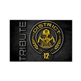 District 12 TRIBUTE Rectangle Magnet