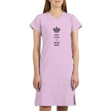 KEEP CALM and DRINK WINE Women's Nightshirt