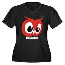 R.O. Remember Women's Plus Size V-Neck Dark T-Shir