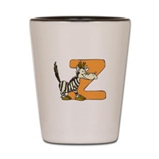 Z Is For Zebra Shot Glass