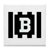 Back Judge &quot;B&quot; Tile Coaster