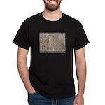 Cat in Tall Grass Black T-Shirt