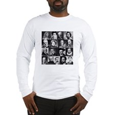 French Lit Faces Long Sleeve T-Shirt