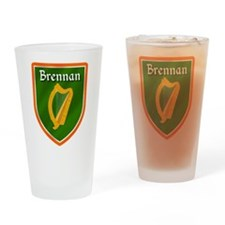 Brennan Family Crest Drinking Glass