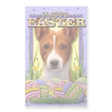 Easter Egg Cookies - Basenji Decal