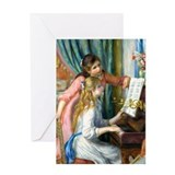 Renoir - 2 Girls at Piano Greeting Card