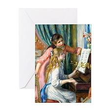Renoir - 2 Girls at Piano Greeting Card