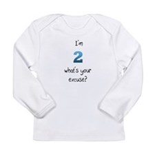 Cute I'm 2 Long Sleeve Infant T-Shirt