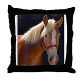 Sunlit Horse Throw Pillow