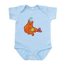 Fat Cat and Birds Infant Bodysuit