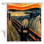 Scream 50th Shower Curtain