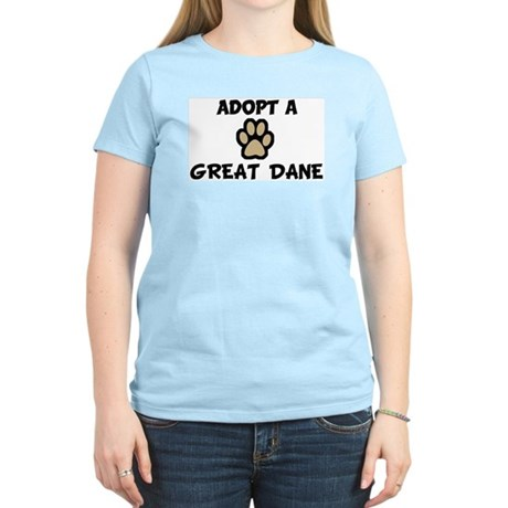 Adopt a GREAT DANE Women's Pink T-Shirt
