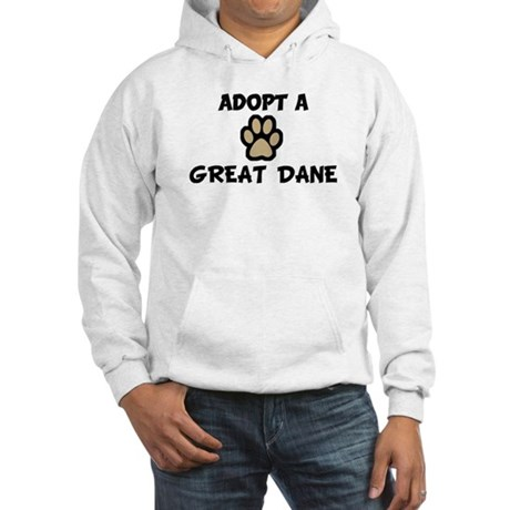 Adopt a GREAT DANE Hooded Sweatshirt