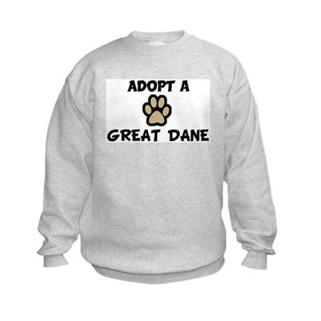 Adopt a GREAT DANE Kids Sweatshirt
