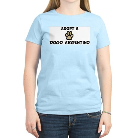 Adopt a DOGO ARGENTINO Women's Pink T-Shirt