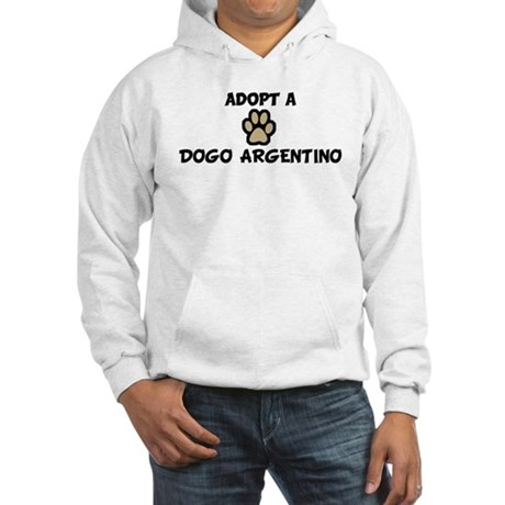 Adopt a DOGO ARGENTINO Hooded Sweatshirt