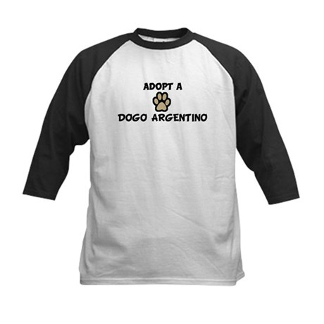 Adopt a DOGO ARGENTINO Kids Baseball Jersey