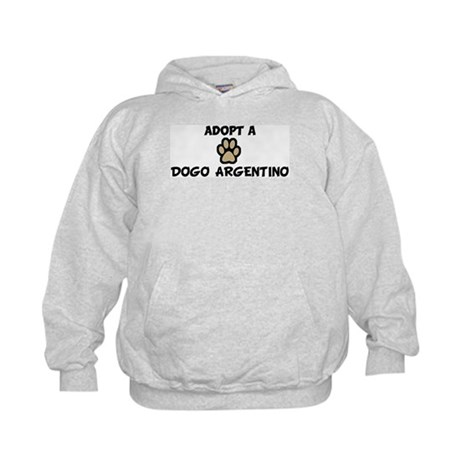 Adopt a DOGO ARGENTINO Kids Hoodie
