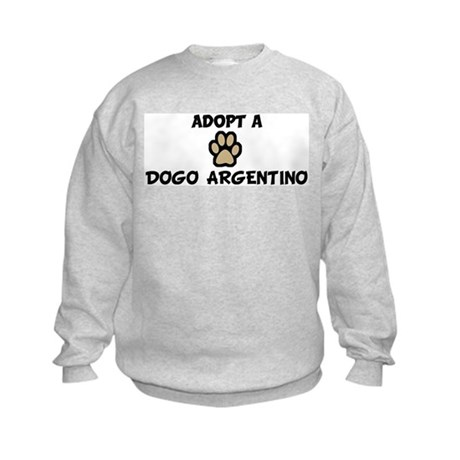 Adopt a DOGO ARGENTINO Kids Sweatshirt
