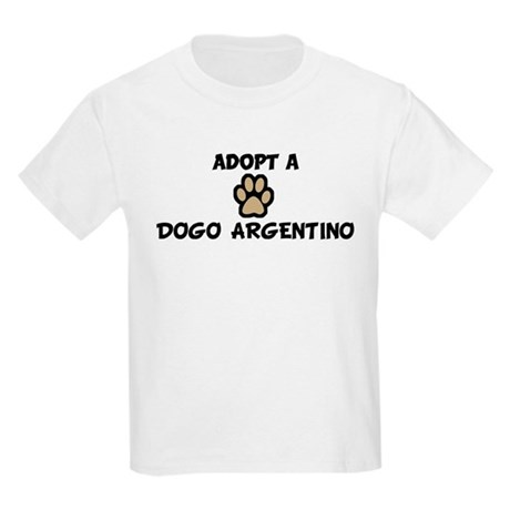 Adopt a DOGO ARGENTINO Kids T-Shirt