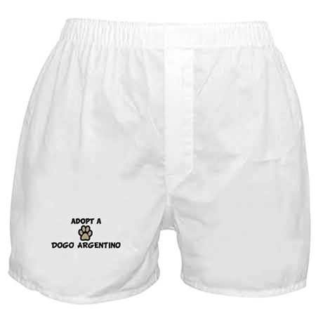 Adopt a DOGO ARGENTINO Boxer Shorts
