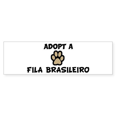 Adopt a FILA BRASILEIRO Bumper Sticker