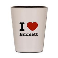 I love Emmett Shot Glass