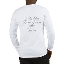 Personalizable Brain Cancer Long Sleeve T-Shirt